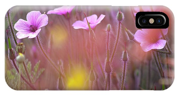Pink Wild Geranium IPhone Case