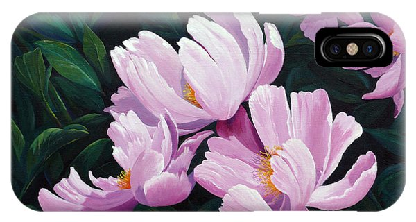 Pink Windflower Peonies IPhone Case