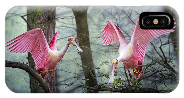 Pink Wings In The Swamp IPhone Case