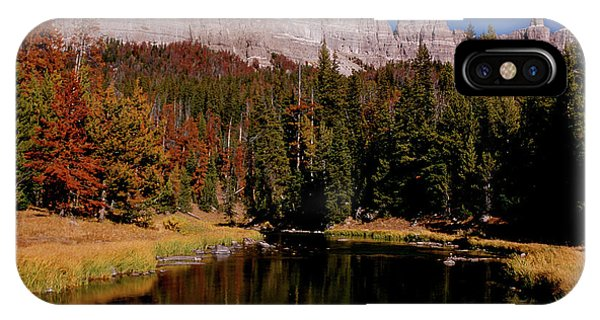 Pinnacle Buttes On Brooks Lake Creek Rocky Mountains IPhone Case