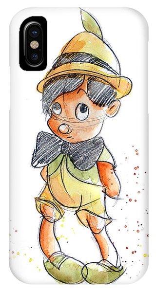 Child iPhone Case - Pinocchio by Andrew Fling