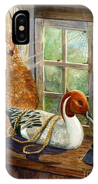 Wood Ducks iPhone Case - Pintail Duck Decoy by Marilyn Smith