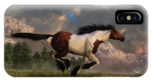 Pinto Mustang Galloping IPhone Case