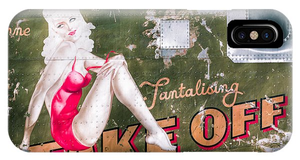 Pinup Girl - Aircraft Nose Art - Take Off Anne IPhone Case