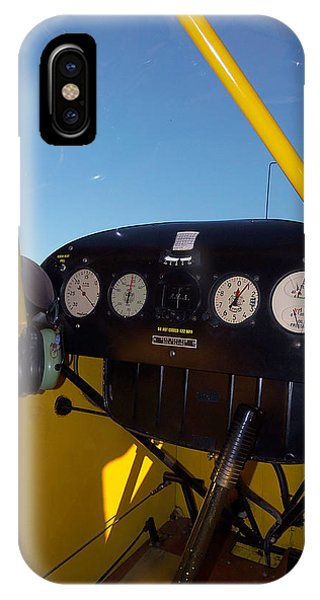 Piper Cub Dash Panel IPhone Case