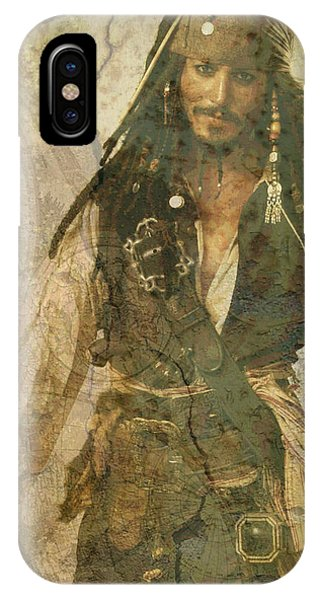Pirate Johnny Depp - Steampunk IPhone Case