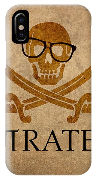 Flag iPhone Case - Pirate Math Nerd Humor Poster Art by Design Turnpike