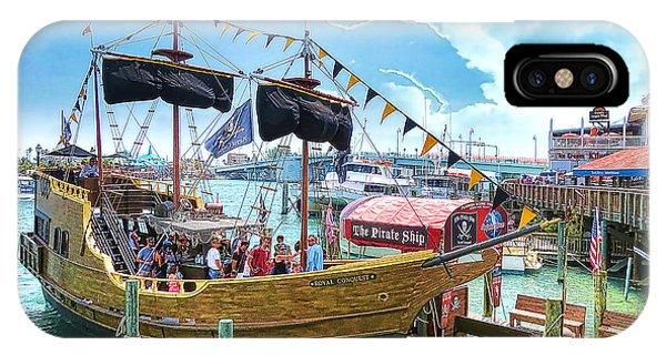 Pirate Ship Phone Case by Stephen Warren