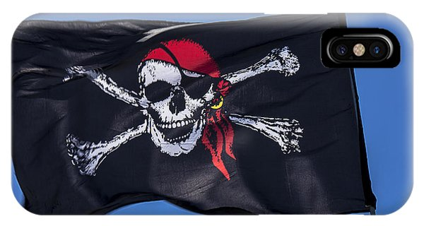 Pirate Skull Flag With Red Scarf IPhone Case
