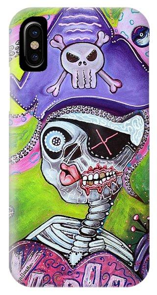 Voodoo iPhone Case - Pirate Voodoo by Laura Barbosa