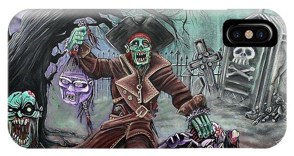 Voodoo iPhone Case - Pirate's Graveyard 2 by Laura Barbosa