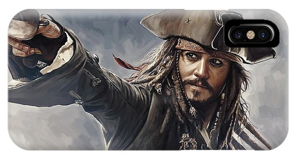 Pirates Of The Caribbean Johnny Depp Artwork 2 IPhone Case