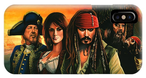 Sparrow iPhone Case - Pirates Of The Caribbean  by Paul Meijering