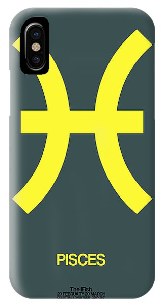 Pisces Zodiac Sign Yellow IPhone Case