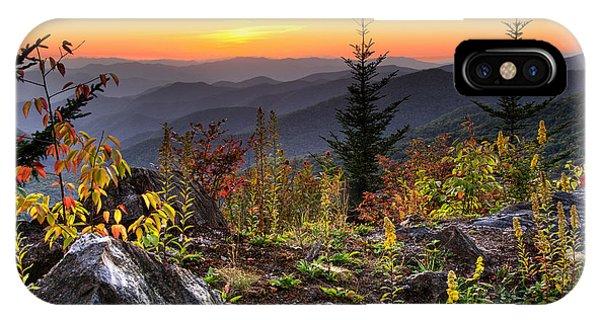 Pisgah Sunset - Blue Ridge Parkway IPhone Case
