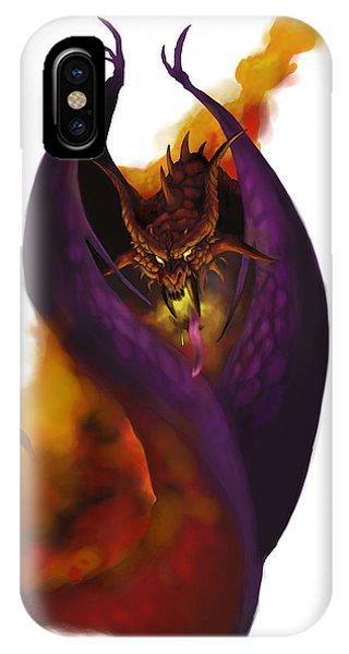 Dungeon iPhone Case - Pit Fiend by Matt Kedzierski