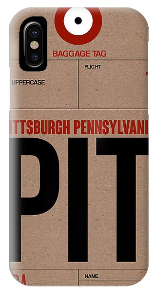 Travel iPhone Case - Pittsburgh Airport Poster 1 by Naxart Studio