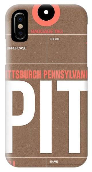 Travel iPhone Case - Pittsburgh Airport Poster 2 by Naxart Studio