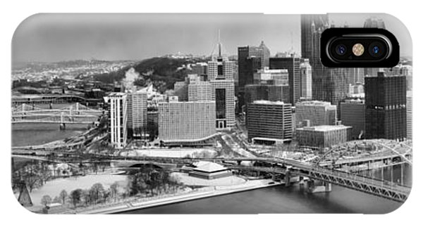 Pittsburgh Black And White Winter Panorama IPhone Case
