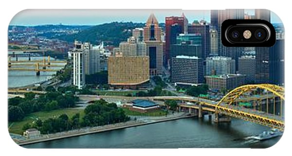 Pittsburgh Panorama At Dusk IPhone Case