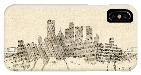 Pittsburgh Pennsylvania Skyline Sheet Music Cityscape IPhone Case