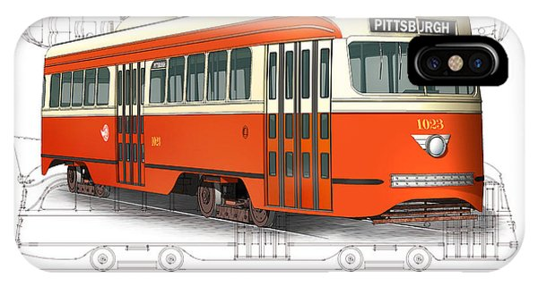 Pittsburgh Railways Company Pcc Trolley IPhone Case