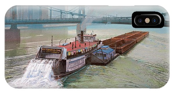 River iPhone Case - Pittsburgh River Boat-1948 by Paul Krapf