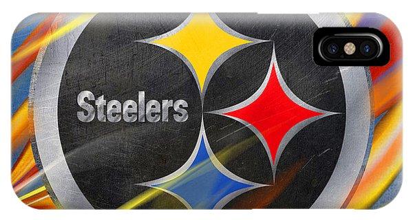 Day iPhone Case - Pittsburgh Steelers Football by Tony Rubino