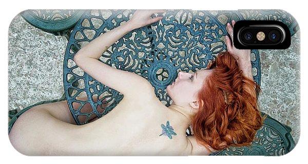 Red Hair iPhone X Case - Pixie, Al Fresco by Kenp