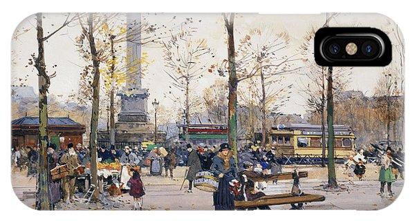 Place De La Bastille Paris IPhone Case