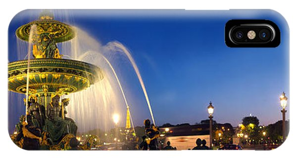 Concorde iPhone Case - Place De La Concorde At Dusk, Paris by Panoramic Images