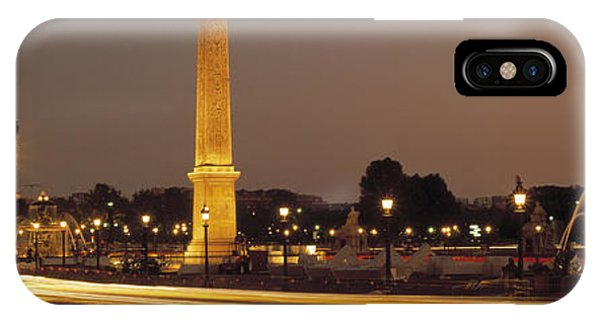 Concorde iPhone Case - Place De La Concorde Paris France by Panoramic Images