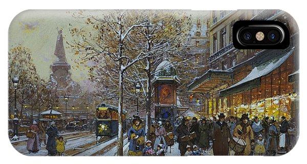 Avenue iPhone Case - Place De La Republique Paris by Eugene Galien-Laloue