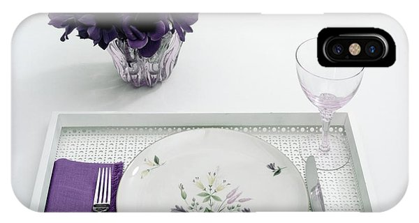 Place Setting With With Flowers IPhone Case