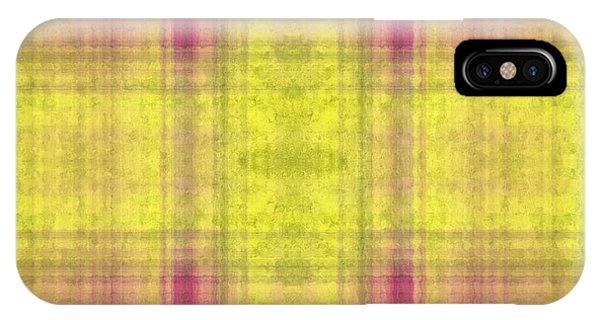Plaid In Yellow 2 Square IPhone Case