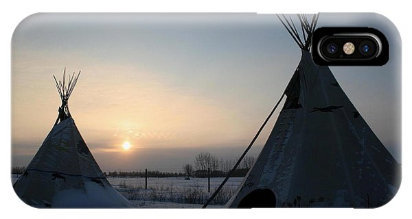 Plains Cree Tipi IPhone Case