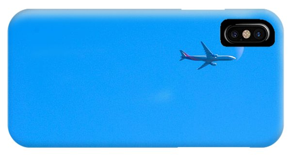 Plane Crossing The Moon IPhone Case