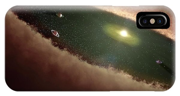 Planets Forming Around A Star Phone Case by Nasa/jpl-caltech/t. Pyle (ssc)