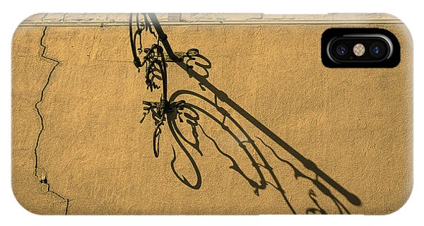 Ironwork iPhone Case - Plant Hanger Shadow  by Garry Gay