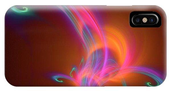 Fractal iPhone X Case - Plasma Physics by David Parker
