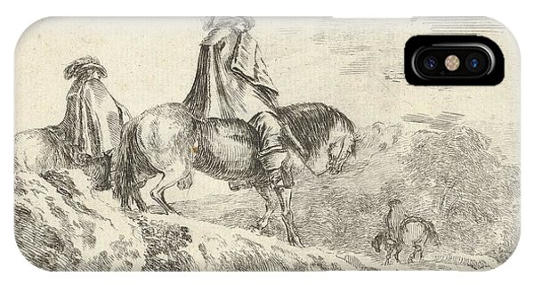 Plate 10 Two Horsemen Descending IPhone Case
