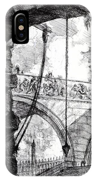 Dungeon iPhone Case - Plate 4 From The Carceri Series by Giovanni Battista Piranesi