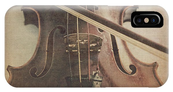 Violin iPhone X Case - Play A Tune by Emily Kay