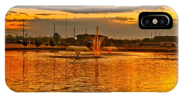 IPhone Case featuring the photograph Playa Lake At Sunset by Mae Wertz