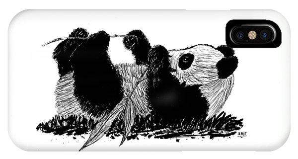 Playful Panda IPhone Case