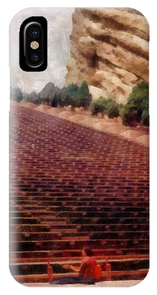 Playing At Red Rocks IPhone Case