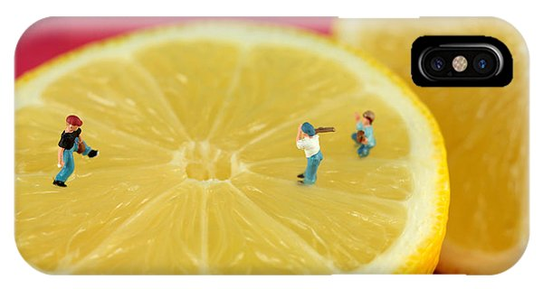 Playing Baseball On Lemon IPhone Case