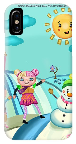 Playing In The Snow IPhone Case
