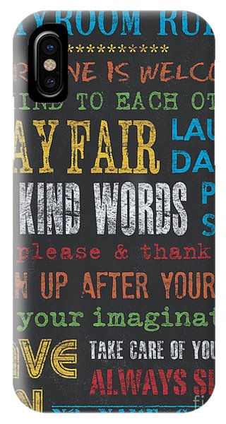 Students iPhone Case - Playroom Rules by Debbie DeWitt