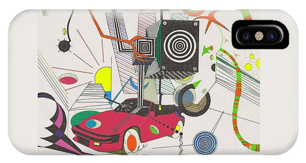 IPhone Case featuring the drawing Playtime by John Wiegand